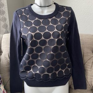 Kate Spade Polka Dot Sweater NEW XS